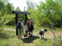 Informační panel pro návštěvníky Lomu Chlum