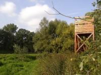Schovaná pozorovatelna u Třemešského rybníku